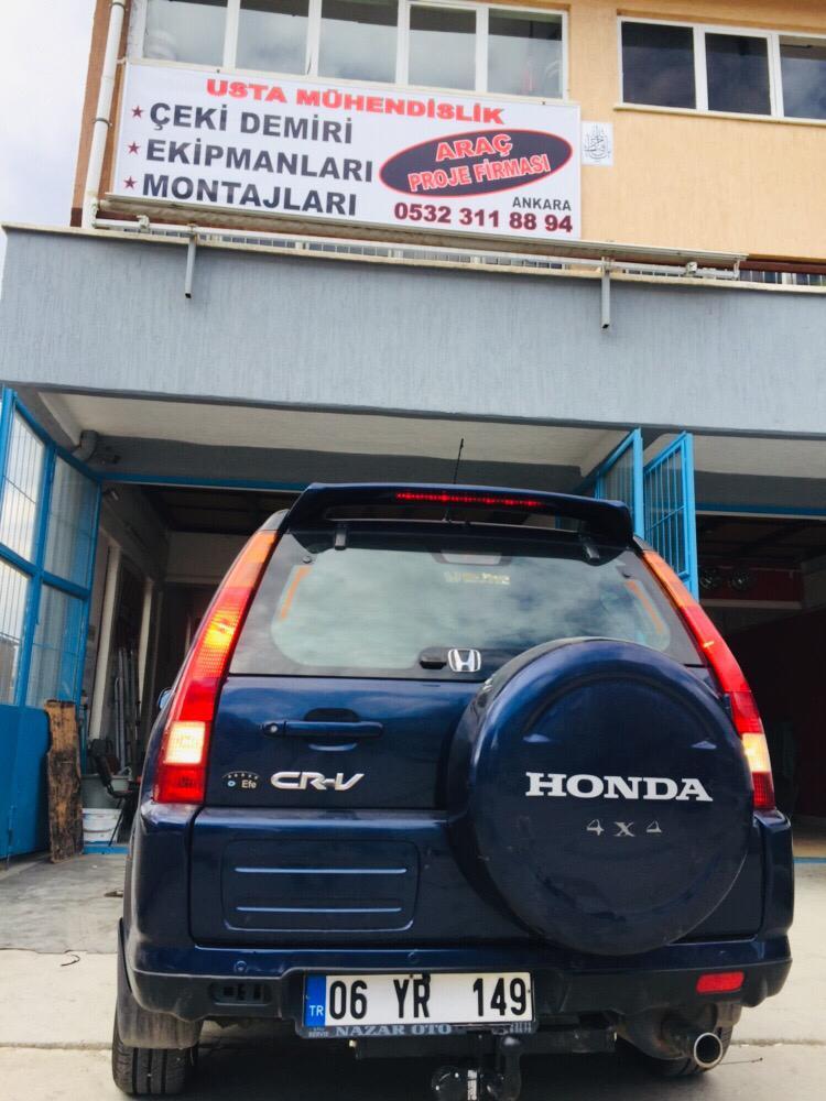HONDA CR V  » Marka araça çeki demiri takma montajı ve araç proje Ankara USTA MÜHENDİSLİK 05323118894